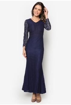 Baju Kurung Lace Maxi Dress - Vercato Vika