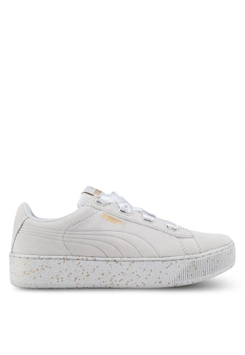 4e4fd5a32f6019 Buy PUMA Core Puma Vikky Platform Ribbon Dots Shoes Online on ZALORA ...