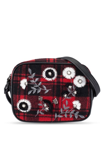 TOPSHOP red Gingham Crossbody Bag TO412AC0RY44MY_1