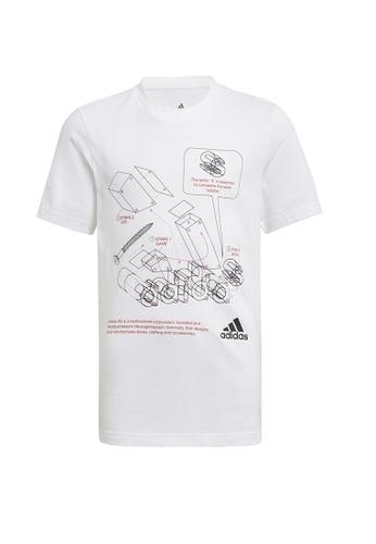ADIDAS white tech sports graphic t-shirt 3BD77KA5FF6643GS_1
