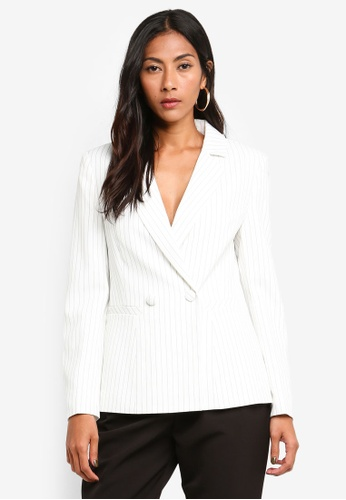 b5313ab6821fda Buy Forever New Petite Eleanor Pinstripe Blazer Online on ZALORA Singapore