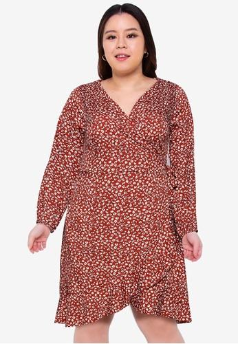 Only CARMAKOMA 褐色 Plus Size Carlivia Dress 9D794AAFE1AE0AGS_1
