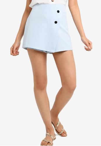 ZALORA 藍色 質感褲裙 44108AA67327E8GS_1