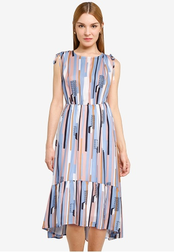 Nichii 藍色 All Over Print Dress 2D4BEAA5785302GS_1