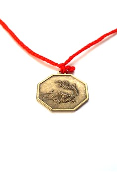 Feng Shui Brass Dragon Pendant Animal Sign Necklace