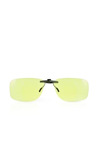 ASLLY silver Eternal amber│Anti-Blue light Clip On Glasses - Amber Lens A6C74GL0D49E2EGS_1