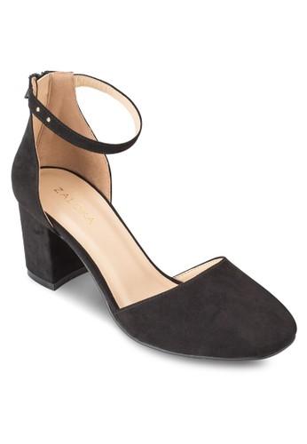 基本款粗跟繞踝高跟鞋、 女鞋、 鞋ZALORA基本款粗跟繞踝高跟鞋最新折價