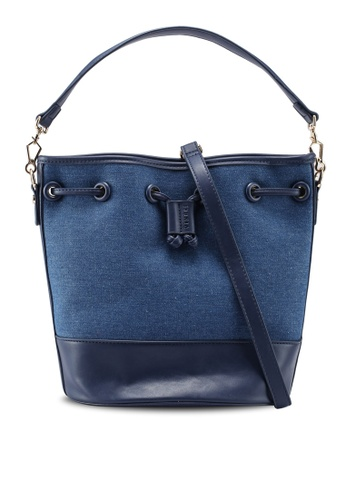 6568018330 VINCCI navy Faux Leather Shoulder Bag 851E8ACEE98516GS 1