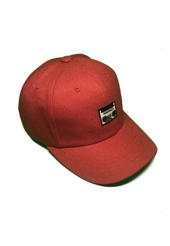 M-Wanted red M. Radio Baseball Cap MW173AC0FTHYSG_1