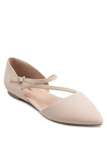 Nespolo 尖頭多帶平底鞋, 女鞋zalora 衣服尺寸, 鞋