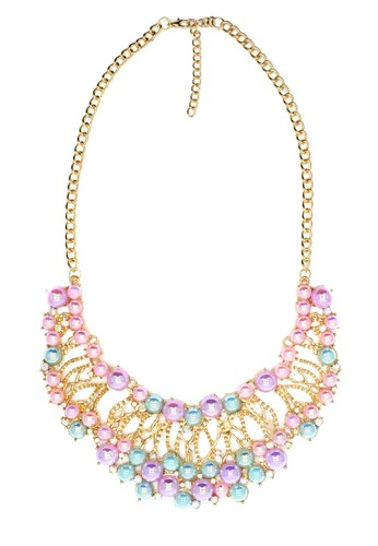 Istana Accessories Kalung Fiyan Pearl Fashion Necklace-Pink