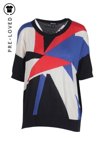 DKNY multi Pre-Loved dkny Geometric Pattern Short Sleeve Sweater 30DD6AA7BF4C47GS_1