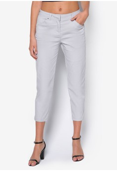 Grey Cotton Stretch Trousers