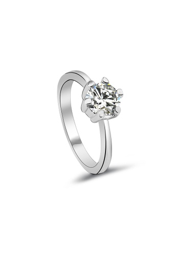 OUXI OUXI Cubic Zirconia Ring 40101 OU821AC94FDDMY_1