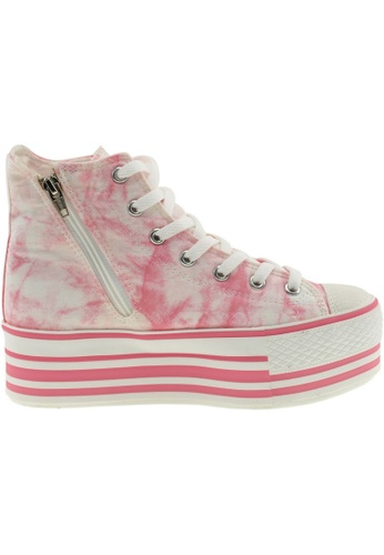 Maxstar pink Maxstar Women's C50 7 Holes Platform Canvas High Top  Sneakers US Women Size MA164SH30PPHSG_1