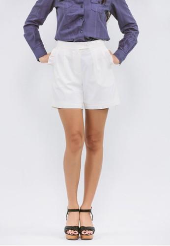 白色口袋和葉esprit mongkok裝飾短褲, 服飾, 休閒短褲