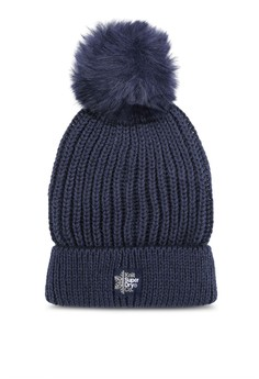Image of Aries Sparkle Fur Bobble Hat