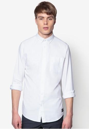 Bige 純棉長袖esprit outlet 台中襯衫, 服飾, 素色襯衫