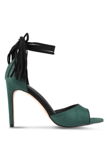 Something Borrowed 綠色 Contrast Piping 花邊 高跟鞋 9D22FSHD7A42D8GS_1