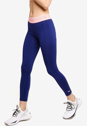 PUMA blue Elastic 7/8 Women's Training Leggin 3E2ABAA3899B37GS_1