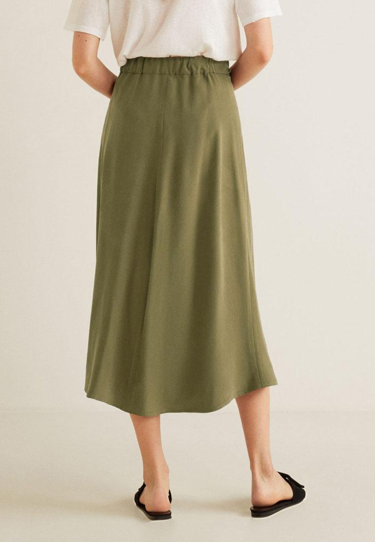 Skirt Buttoned Mango Midi Buttoned Mango Khaki adRSxxIwEq