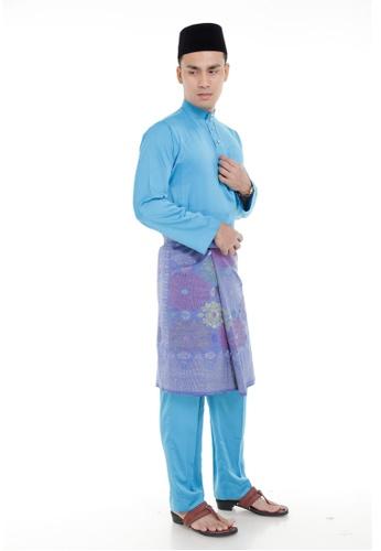 Amar Amran blue Baju Melayu Classic AM362AA03MIIMY_1