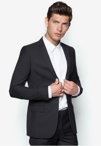 Topman 黑色 New Fit Black Slim Suit Jacket TO250AA80RULSG_1