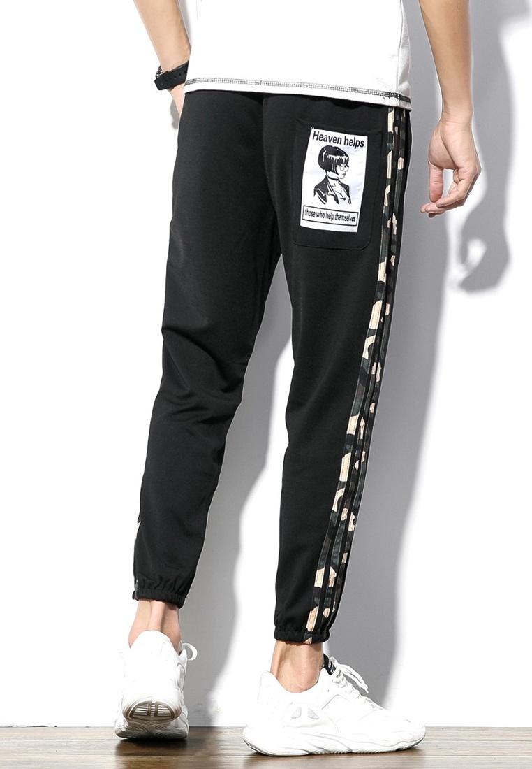 Stripe Pants black Men Camouflage ehunter Cropped hk fR55aw