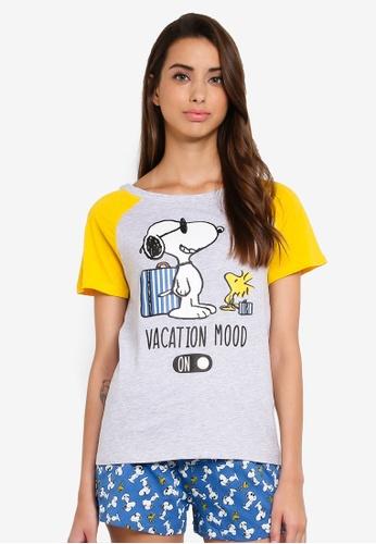 site autorisé original nouveau sélection Snoopy Print Pyjama Set
