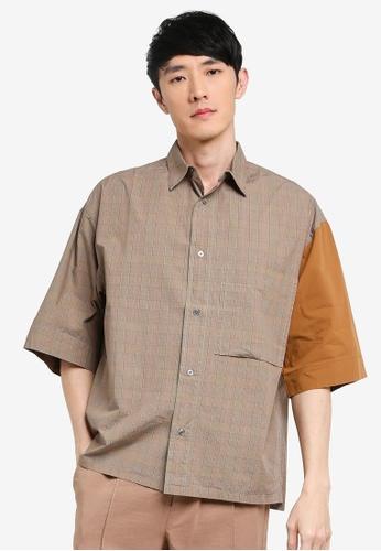 niko and ... brown Loose Shirt BB395AAC5698F4GS_1