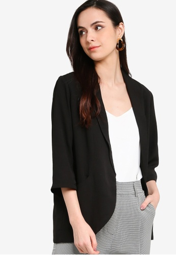 ZALORA WORK black Shawl Collar Blazer 38F64AA8770596GS_1