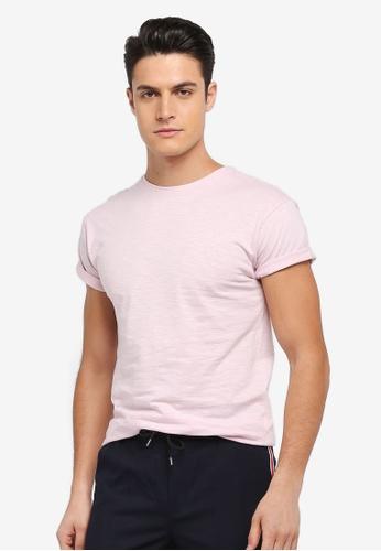Topman 粉紅色 短袖素色T恤 C4924AA24DFA6AGS_1