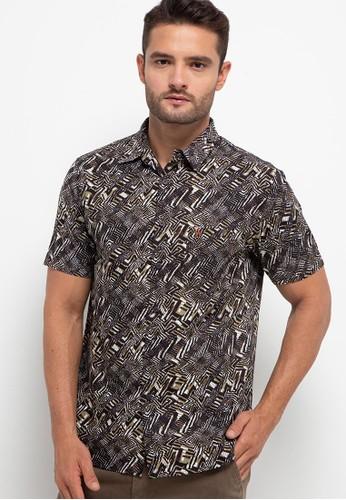 WALRUS brown Short Sleeve Shirt Studio EA2EDAA586F577GS_1