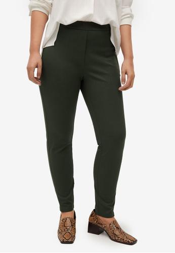 Violeta by MANGO green Plus Size Cotton Leggings 1857FAA66420C5GS_1