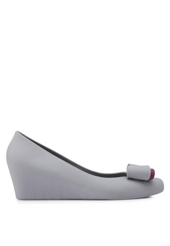 Twenty Eight Shoes 灰色 蝴蝶結楔型鞋 BFA84SH6F74723GS_1