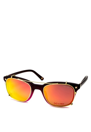 HEX EYEWEAR red and pink Fraud - Frank A. - Optical with Clip-on - Italy Design HE671AC2V1K8HK_1
