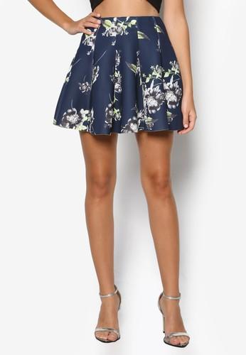 Enley 花卉印花傘擺短裙, 服zalora 內衣飾, 裙子