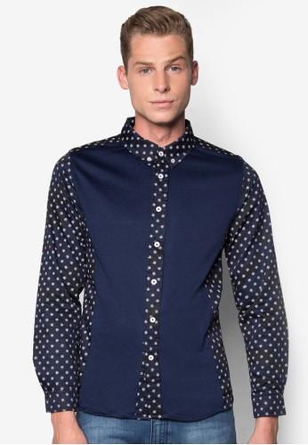 印花拼接長袖襯衫, 服飾zalora 包包 ptt, 服飾