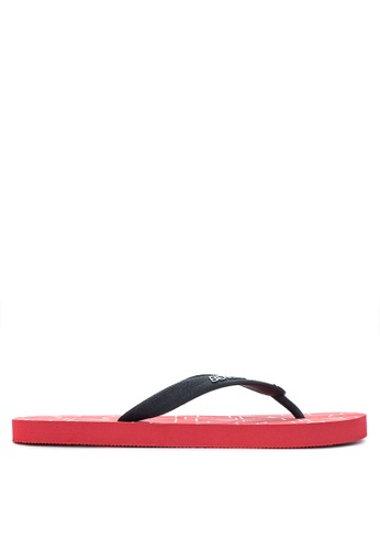 BENCH red Printed Rubber Slippers BE550SH12MBBPH_1