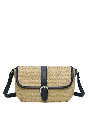 Milliot & Co. navy Tess Sling Bag 25B92AC548E1B1GS_1