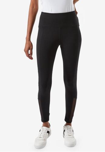 Dorothy Perkins black Petite Black Mesh Leggings 974DEAAD11848DGS_1