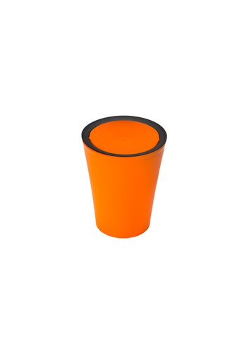 Qualy Qualy Mini Round Flip Bin (Orange) BC84DHLB797193GS_1