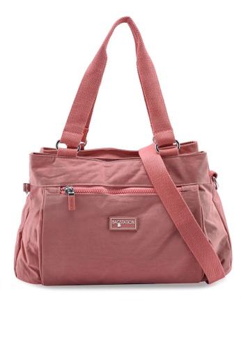 Bagstationz pink Crinkled Nylon Shoulder Bag 36969AC70204DDGS_1
