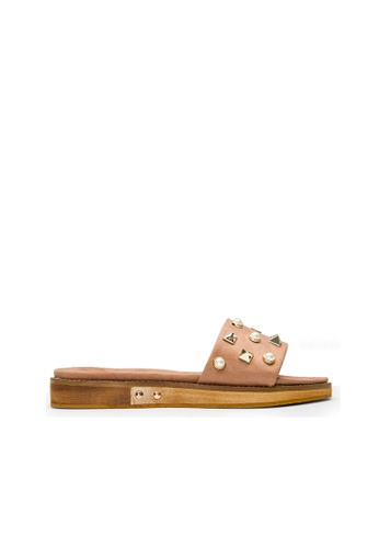 SEMBONIA pink SEMBONIA Synthetic Leather Flat Sandal (Pink) B096CSHB6C8890GS_1