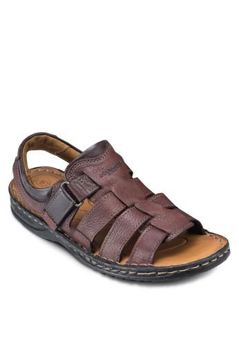 esprit手錶專櫃SAMSON 露趾繞踝皮革涼鞋, 鞋, 鞋