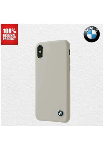 BMW multi BMW Silicone Signature Microfibre - iPhone X / XS - Taupe 2C6C2ES2F8AEDCGS_1