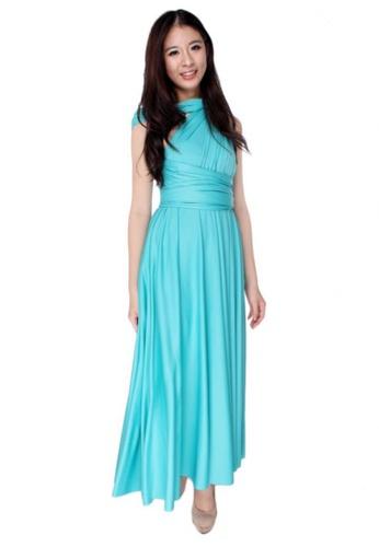 b440ca8dce COVETZ Wedding blue Kaelyn Convertible Maxi Dress - Tiffany Blue  CO491AA55QMEMY 1