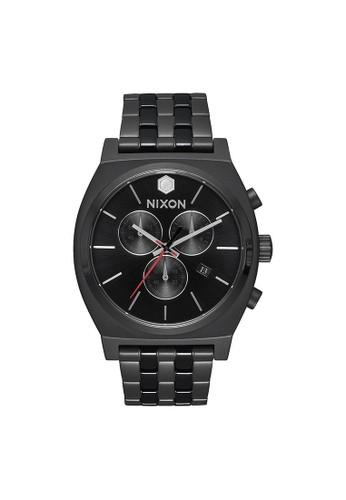 Nixon black Time Teller Chrono SW Kylo Black 42657AC54F8DFFGS_1