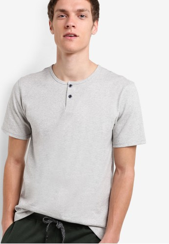 Slim Fizalora時尚購物網評價t Round Neck Button Tee, 服飾, T恤