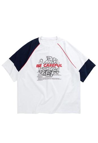 Twenty Eight Shoes Contrast Panel Printed Oversize T-shirt 1125S20 57FD0AA021E18FGS_1